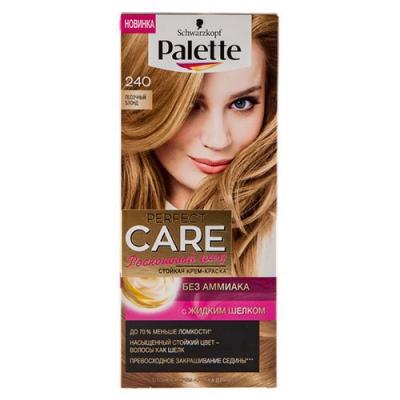 PALETTE PERFECT CARE крем-краска 240 Песочный Блонд 110мл palette perfect care 220 кристальный блонд 110 мл