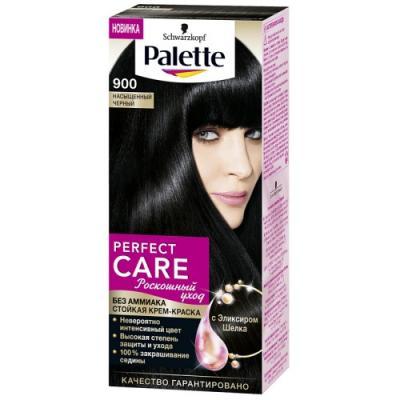 PALETTE PERFECT CARE крем-краска 900 Насыщенный Черный 110 мл palette perfect care 220 кристальный блонд 110 мл