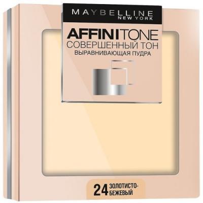 MAYBELLINE Компактная пудра выравнивающая Affinitone 24 золотисто-бежевый