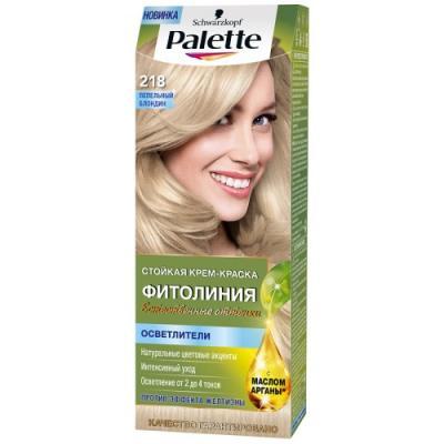 Palette ФИТОЛИНИЯ 218 Пепельный блондин 110 мл schwarzkopf professional краска для волос palette фитолиния без аммиака 25 оттенков 50 мл 900 черный 50 мл