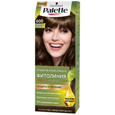 Palette ФИТОЛИНИЯ 600 Светло-каштановый 110 мл schwarzkopf professional краска для волос palette фитолиния без аммиака 25 оттенков 50 мл 900 черный 50 мл