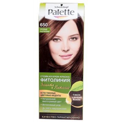 Palette ФИТОЛИНИЯ 650 Ореховый каштановый 110 мл schwarzkopf professional краска для волос palette фитолиния без аммиака 25 оттенков 50 мл 900 черный 50 мл