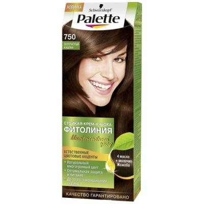 Palette ФИТОЛИНИЯ 750 Золотистый каштан 110 мл schwarzkopf professional краска для волос palette фитолиния без аммиака 25 оттенков 50 мл 900 черный 50 мл