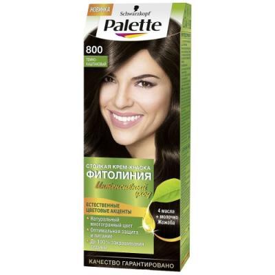 Palette ФИТОЛИНИЯ 800 Темно-каштановый 110 мл schwarzkopf professional краска для волос palette фитолиния без аммиака 25 оттенков 50 мл 900 черный 50 мл