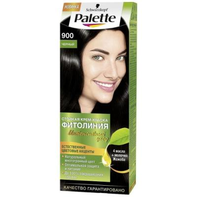 Palette ФИТОЛИНИЯ 900 Черный 110 мл schwarzkopf professional краска для волос palette фитолиния без аммиака 25 оттенков 50 мл 900 черный 50 мл