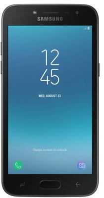 Смартфон Samsung Galaxy J2 (2018) 16 Гб черный (SM-J250FZKDSER) смартфон samsung sm g532 galaxy j2 prime серебристый mediatek mt6737t 1 5гб 8 гб 5 960x540 8mpix dualsim 3g 4g bt android 6 0