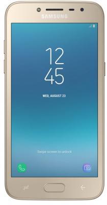 Смартфон Samsung Galaxy J2 (2018) 16 Гб золотистый (SM-J250FZDDSER) смартфон samsung sm g532 galaxy j2 prime серебристый mediatek mt6737t 1 5гб 8 гб 5 960x540 8mpix dualsim 3g 4g bt android 6 0