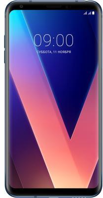 Смартфон LG V30+ синий 6 128 Гб NFC LTE Wi-Fi GPS 3G LGH930DS.ACISBL смартфон asus zenfone zoom zx551ml белый 5 5 128 гб nfc lte wi fi gps 3g 90az00x2 m01380