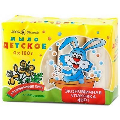 НЕВСКАЯ КОСМЕТИКА Туалетное мыло Детское Чистотел 4х100 гр невская косметика