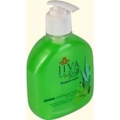 купить JIVA Мыло жидкое Зелёный Чай и Алое 300мл с дозатором по цене 55 рублей