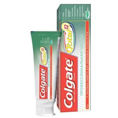 Зубная паста-гель Colgate Total 12. Профессиональная чистка 75 мл