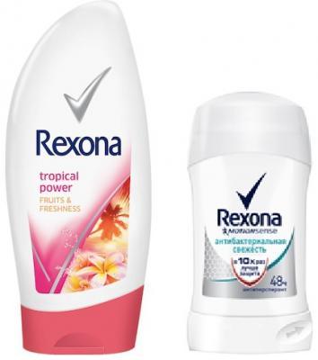 Антиперспирант Rexona Антибактериальная свежесть 40 мл 67288957 + гель для душа rexona антиперспирант аэрозоль антибактериальная свежесть 150 мл libresse набор прокладок ежедневные