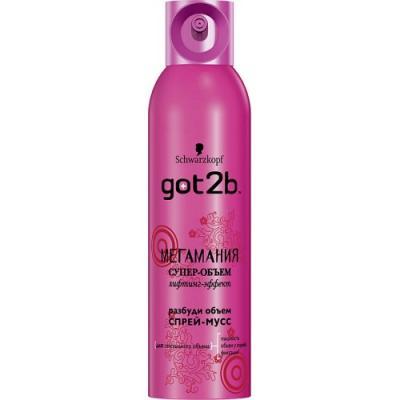 Мусс для волос got2b Мегамания 250 мл got2b лак для волос мегамания 300мл