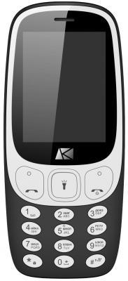 Телефон ARK Benefit U243 черный 2.4 32 Мб GPS ark benefit m5 plus dual metallic