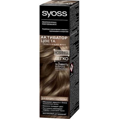 SYOSS Активатор Цвета для холодных каштановых 75 мл спрей тонирующий syoss root retoucher черный 120мл активатор цвета