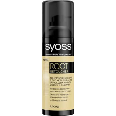 Syoss Root Retoucher Тонирующий спрей для закрашивания отросших корней и седины Блонд syoss syoss спрей для закрашивания седины root retoucher для темно каштановых оттенков 120 мл