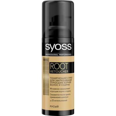 Syoss Root Retoucher Тонирующий спрей для закрашивания отросших корней и седины Русый syoss syoss спрей для закрашивания седины root retoucher для темно каштановых оттенков 120 мл