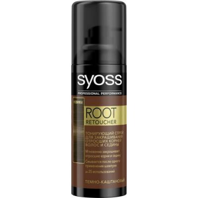 Syoss Root Retoucher Тонирующий спрей для закрашивания отросших корней и седины Темно-каштановый