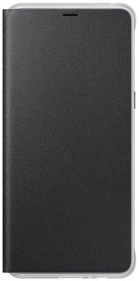 Чехол Samsung для Samsung Galaxy A8+ Neon Flip Cover черный EF-FA730PBEGRU чехол книжка samsung neon flip cover для galaxy a8 2018 черный