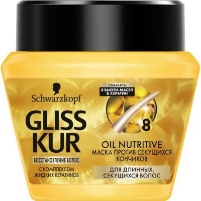 GLISS KUR Питательная маска Oil Nutritive 300 мл gliss kur питательная маска oil nutritive 300 мл