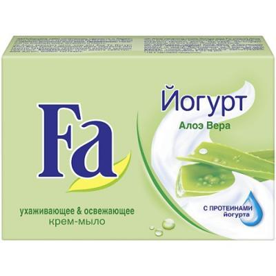 купить Fa Мыло Кусковое YOGHURT Алоэ Вера 90г по цене 55 рублей