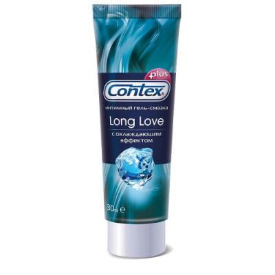CONTEX Гель-смазка интимный Plus Long Love с охлаждающим эффектом 30мл contex green 100 мл лубрикант с антибактериальным эффектом