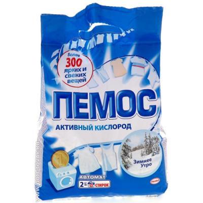 ПЕМОС Порошок стиральный Автомат Зимнее утро 2кг пемос стиральный порошок зимнее утро пемос 2 кг