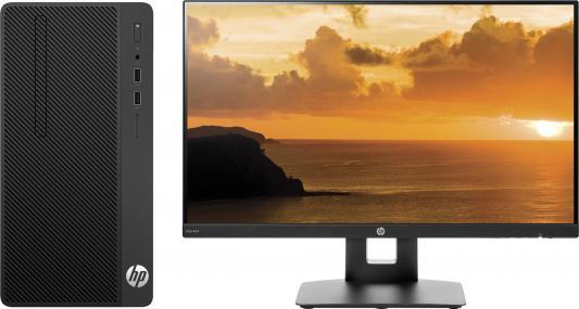 Системный блок HP 290 G1 i3-7100 3.9GHz 8Gb 256Gb SSD DVD-RW Win10Pro черный + монитор VH240a 3EC06ES системный блок hp z440 e5 1650v4 3 2ghz 16gb 512gb ssd dvd rw win7pro win10pro клавиатура мышь черный t4k81ea