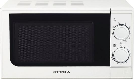 СВЧ Supra 20MW25 700 Вт белый supra mw g2120sw