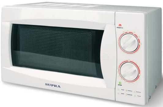 СВЧ Supra 20MW40 800 Вт белый supra mw g2120sw