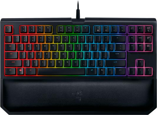 Клавиатура проводная Razer BlackWidow Tournament Chroma V2 USB черный RZ03-02190100-R3M1 клавиатура razer blackwidow tournament chroma black usb
