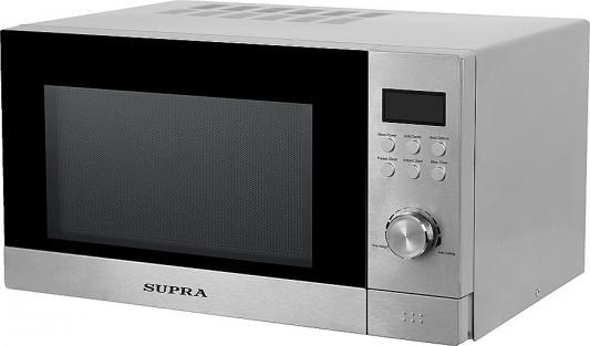 СВЧ Supra 23TSG38 800 Вт серебристый цена и фото