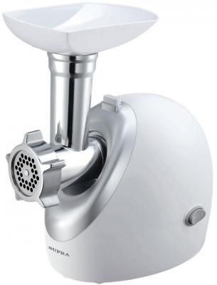 Электромясорубка Supra MGS-1902 1900 Вт белый серебристый термопот supra tps 3016 730 вт 4 2 л металл серебристый