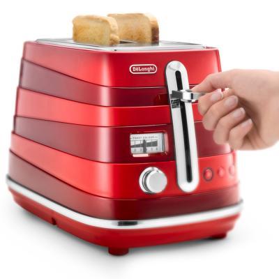 Тостер DeLonghi CTA 2103.R красный тостер delonghi ctov 2103 az