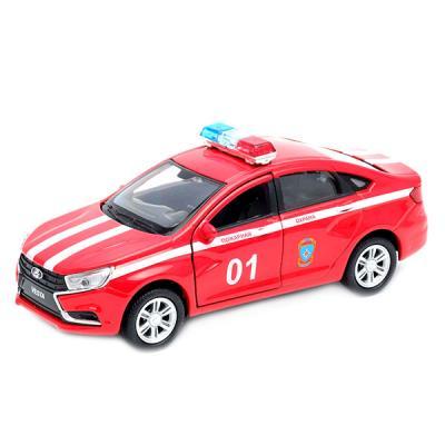 Автомобиль Welly LADA Vesta Пожарная охрана 1:34-39 красный 43727FS машины welly модель машины 1 34 39 lada granta пожарная охрана