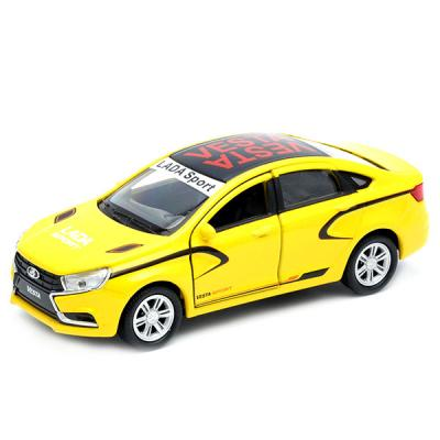 "Автомобиль Welly LADA Vesta ""Спорт"" 1:34-39 желтый 43727RY"
