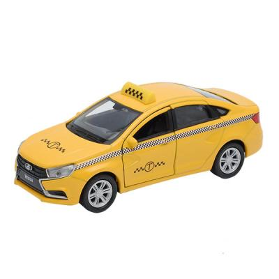 Автомобиль Welly LADA Vesta такси 1:34-39 желтый 43727TI автомобиль welly уаз 31514 военная автоинспекция 1 34 39 зеленый 4891761238070
