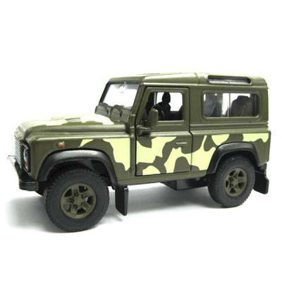 Джип Welly Land Rover Defender 1:34-39 хаки 42392CM игрушка welly land rover defender 42392cm