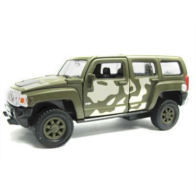 Внедорожник Welly Hummer H3 1:34-39 хаки 43629CM машина welly hummer h3 43629