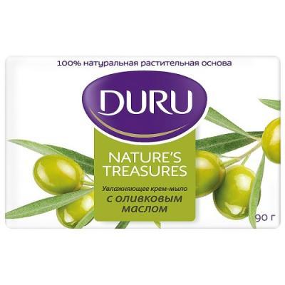 DURU NATURES TREASURES Мыло Оливковое масло 90г набор duru natures treasures гель д д оливка 250мл гель д д облепиха 250мл мочалка