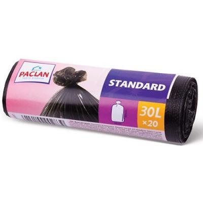 PACLAN Мешки для мусора STANDART 30л 20шт пакеты для мусора stayer comfort завязками 30л 20шт голубой 39155 30