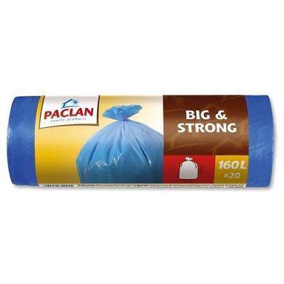 Мешки для мусора PACLAN Big & Strong. в рулоне, 160 л, 20 шт мешки для мусора paclan economy с завязками 35 л 20 шт