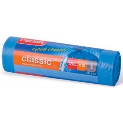 PACLAN Мешки для мусора синие CLASSIC 120л 10шт мешки для мусора paclan big