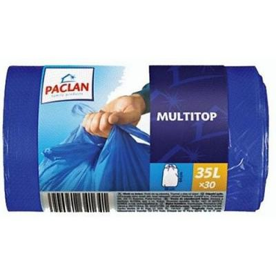 PACLAN Мешки для мусора Multi-Top 35л 30шт мешки для мусора stayer comfort с ушками голубые 35л 30шт 39155 35