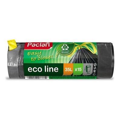 PACLAN Мешки для мусора с тесьмой ECO LINE 60л 15шт цена