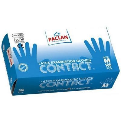PACLAN Перчатки латекс р-р M 100шт/уп paclan фильтры д кофеварок 100 шт небеленые р р 4