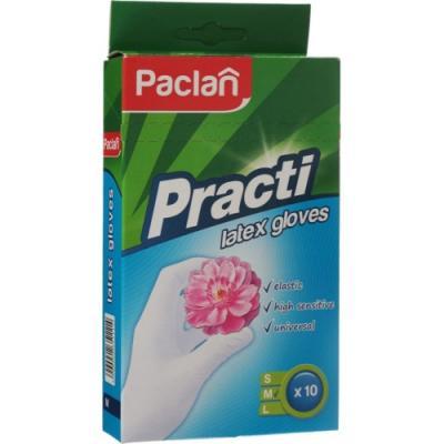 PACLAN Перчатки латексные размер M 10шт paclan перчатки латексные practi размер l paclan