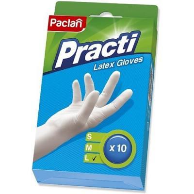 PACLAN Перчатки латекс р-р L 10шт/уп paclan фильтры д кофеварок 100 шт небеленые р р 4