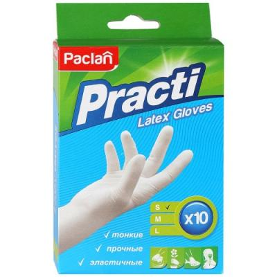 PACLAN Перчатки латексные размер S 10шт paclan перчатки латексные practi размер l paclan