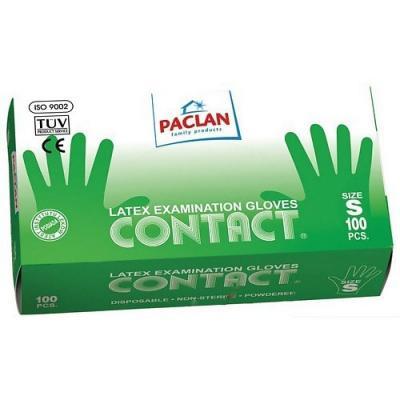 PACLAN Перчатки Contact латекса р-р S 100ш/уп paclan фильтры д кофеварок 100 шт небеленые р р 4